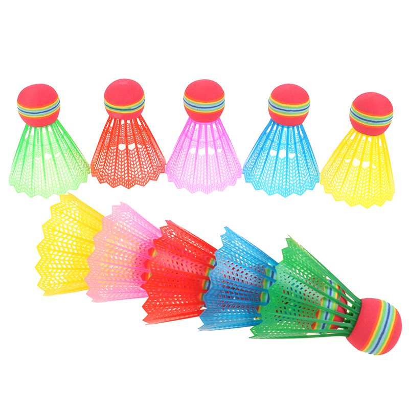 10PCS/Pack Colorful Badminton Balls Portable Shuttlecocks Products Sport Training Train Outdoor Supplies With Cylinder Packaging