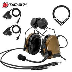 TAC-SKY COMTAC III dual kommunikation silikon ohrenschützer tactical headset CB/tactical headset ersatz stirnband/PTT U94PTT