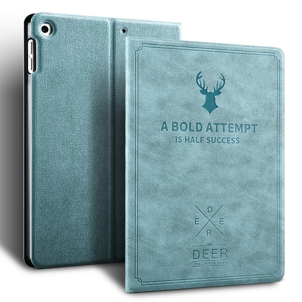 Blue Blue Retro Deer Pattern style Case For iPad Air 4 10 9 2020 A2324 A2072 cover For
