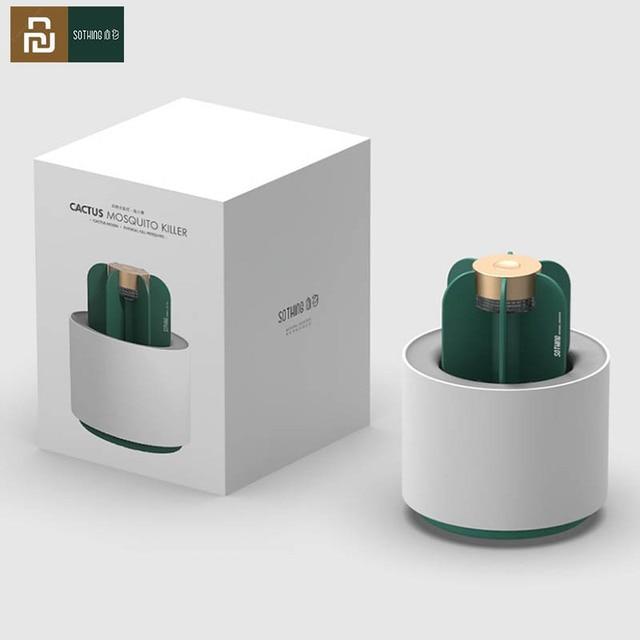 2020 Youpin Sothing moustique tueur lampe Portable cactus USB électrique moustique répulsif insecte piège UV lumière pour chambre maison