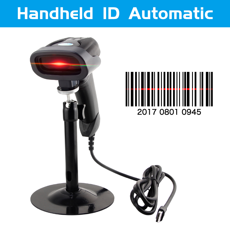 Scanner-Reader Hands-Free Laser-Bar Pos-System Code Supermarket Portable USB for Usb-Plug title=