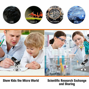Image 5 - 40X 1000X Magnifier 8 LED Microscope Digital Mini Camera Handheld USB Video Endoscope Micro Cam School Numerique Electronique