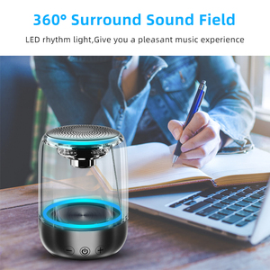 Image 2 - Bluetooth Wireless Speakers Waterproof  Stereo Column Portable Speaker  Romantic Colorful Light Support TF Card with Mic