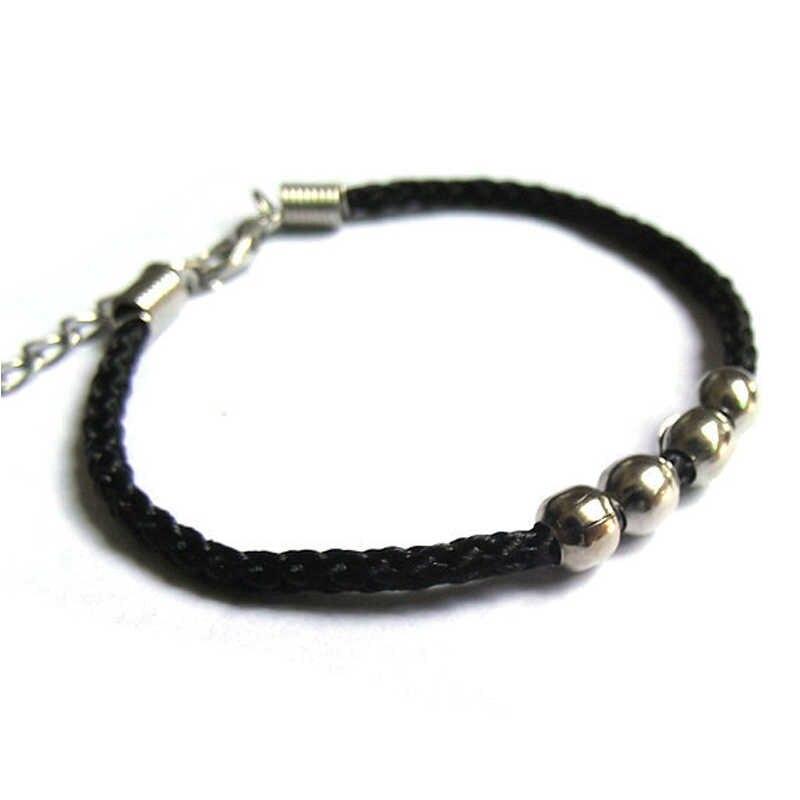 Bracelet et Bracelets en alliage fait main avec perle en alliage pour femmes hommes Bracelets en fil de corde rouge
