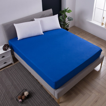 Super Soft Solid Fitted Sheet Mattress Cover with all-around Elastic Rubber Band Bed Sheet Home Hotel Bedding Sheets