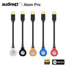 Hilidac Audirect Atom פרו MQA ESS9281C USB DAC כבל אוזניות מגבר AMP ברקים/TYPE C כדי 3.5m אודיו קו עבור Ios אנדרואיד