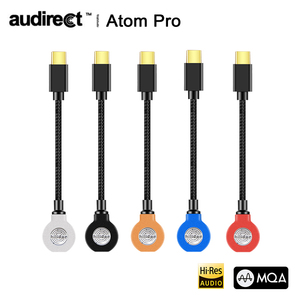 Image 1 - Hilidac Audirect Atom פרו MQA ESS9281C USB DAC כבל אוזניות מגבר AMP ברקים/TYPE C כדי 3.5m אודיו קו עבור Ios אנדרואיד