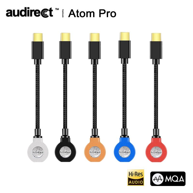 Hilidac Audirect Atom Pro MQA ESS9218C Pro Lossless Portable Headphone Amplifier AMP USB DAC TYPE-C/Lightning PCM 32Bit/384kHz