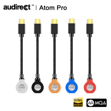 Hilidac Audirect Atom Pro MQA ESS9281C USB DAC Cable Headphone Amplifier AMP Lightning/TYPE C to 3.5m Audio Line for Ios Android
