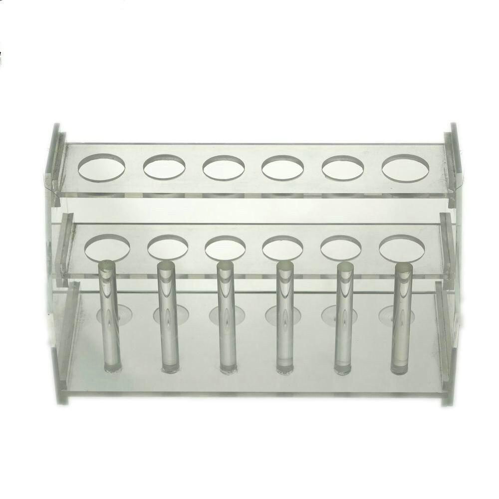 12 Positions Test Tube Stand Bracket Rack Detachable Centrifuge Tube Rack Stainless Steel Chemical Experiment Tube Holder