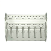 цены Organic Glass Tube Rack 6-hole Colorimetric Tube Rack High School Laboratory Consumables Chemical Glassware