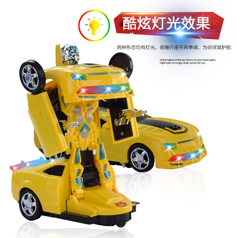 Electric Transformation Wasp Robot Children Universal Educational Large Toy Car With Light And Music Stall Night Market Hot Sell