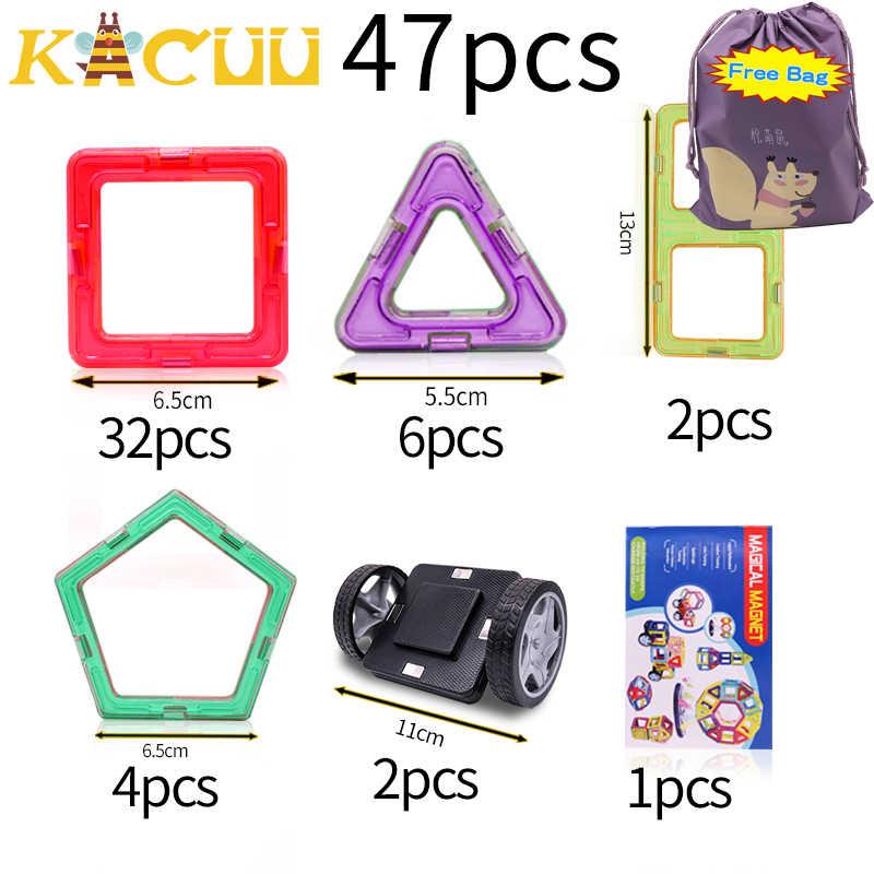 KACUU Big Size bloki magnetyczne układanki magnetyczne konstruktor zestaw Model i zabawki do budowania magnesy edukacyjne zabawki dla dzieci