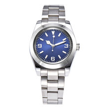 Automatic Watch 39 Mm Laki-laki Automatic Kaca Safir Perak Case 316L Stainless Steel Biru Panggil A1013(China)