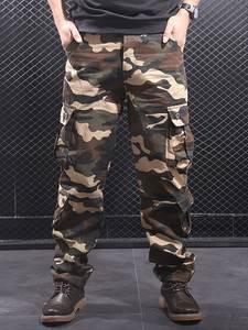 Cargo-Pants Pantalon Joggers-Streetwear Multi-Pockets Homme Hip-Hop Military Men Casual