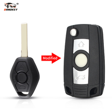 DANDKEY Modified Flip Remote Key Shell For BMW 1 3 5 6 7 Series E53 E81 E63 E64 E38 E83 E36 X3 X5 Z3 Z4 HU92 Uncut Blade
