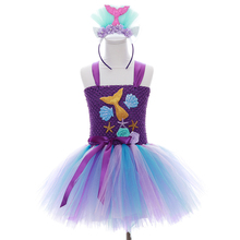 POSH DREAM Princess Kids Girls Tutu Dress Hot Pink Cartoon  Children Birthday Party Dress Kids Girls Clothes
