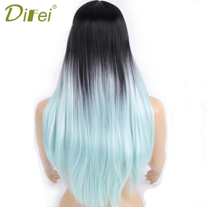 DIFEI Long Straight Synthetic