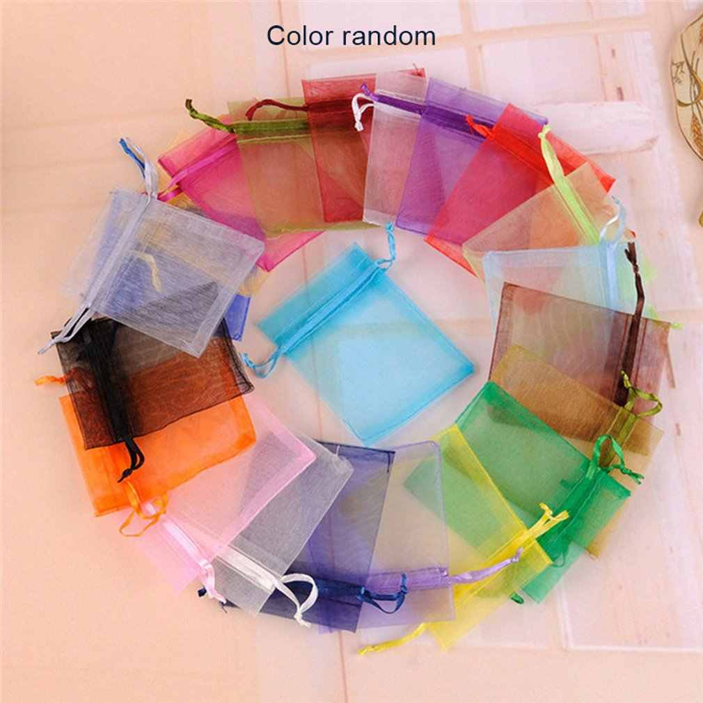 20pcs Drawstring Pouches Jewelry Candy Gift Yarn Bag For Party Wedding Storage Bag Jewelry Organizer Jewelry Gift Bag