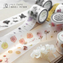 30mmX5m 1Pc Creative Frosted PET Tape Diary Decoration Sticker Journal Sticker Scrapbook DIY School Supplies Kawaii