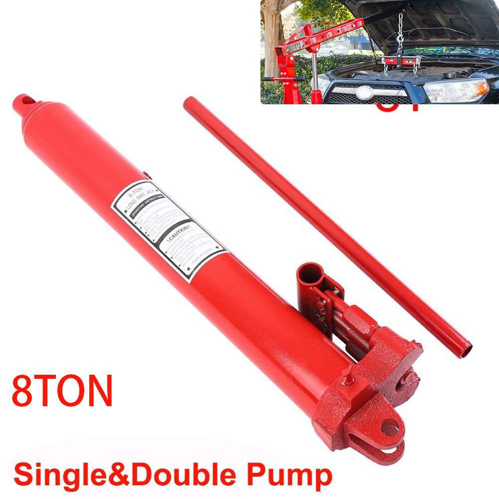 Samger 8Ton Hydraulic Jack Manual Engine Lift Repair Tool Hydraulic Long Ram Hydraulic Jack Single&Double Pump
