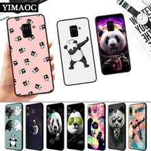 Panda Dab on the EM Silicone Soft Case for Samsung A3 A5 A6 Plus A7 A8 A9 A10 A20 A30 A50 A10S A30S A50S