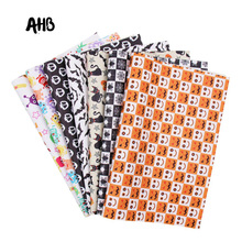 AHB 22 *30cm Pumpkin Artificial Leather Cute Monster Synthetic Sheet DIY Sewing for Garment Knotbow Bags Making Supplier