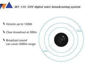 Image 4 - Per DJI Drone Sistema di Altoparlanti MP 130 UAV Per DJI Matrice 200 Serie Sistema di Trasmissione Vocale Digitale