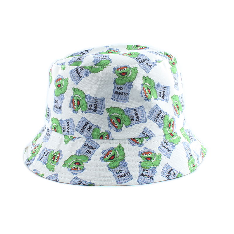 H09443e92db4145ab9241db5d93c2a8ceE - Summer Fisherman Hat Reversible Cartoon Bucket Hats For Women Men Street Hip Hop Bucket Cap Vintage Printed Fishing Hat