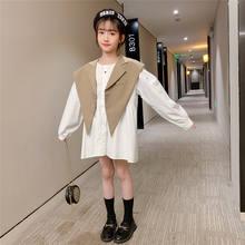 Одежда для маленьких девочек винтажное свободное платье во французском