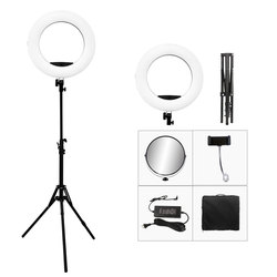 48W Yidoblo LED Ring lamp 3200K-5500K Warm + White color light adjustable 18 LED Ring Light LED Video Lamp+ 2m tripod +Bag Kit