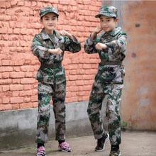 Children Tactical Combat Camouflage Military Uniform Kids Special Forces Camp Training Ghillie Suit Hunting Jackets Army Costume(China)