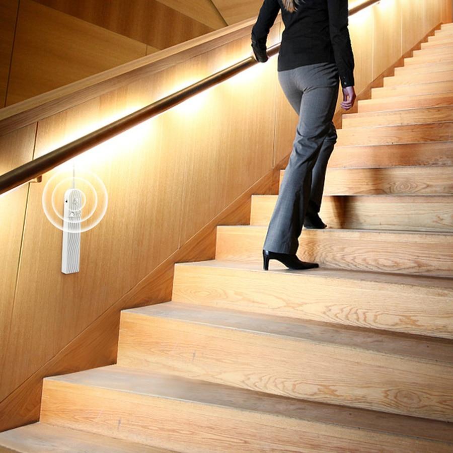 Smart PIR Sensor LED Stairs Light bedroom Lamp Indoor Lighting wall lamp Flexible Wall Light Motion Detection Auto On Off