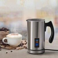 220 240V Electric Automatic Milk Frother Soft Foam hot and cold Foamer Milk Heater Cappuccino Maker Mixer EU/UK Plug