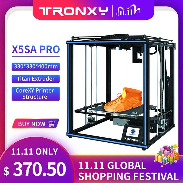 Tronxy X5SA برو ثلاثية الأبعاد هيكل الطابعة عدة لتقوم بها بنفسك السيارات مستوى impresora لوحة تحكم الألومنيوم الشخصي ثلاثية الأبعاد الطابعات الملونة خيوط