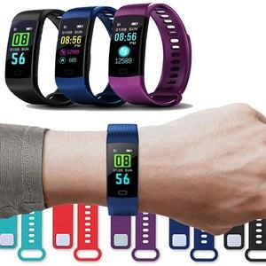 Image 2 - Bluetooth חכם צמיד צבע מסך Y5 C Smartband קצב לב צג לחץ דם מדידה כושר גשש חכם
