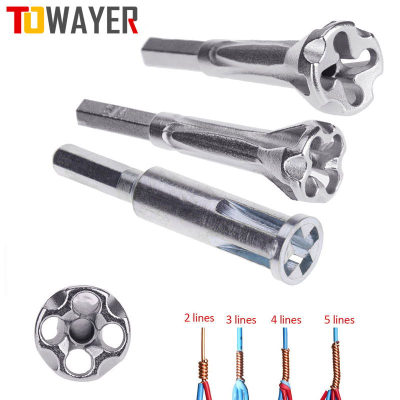 Электрический инструмент для скручивания проводов, универсальный автоматический коннектор для зачистки и двойки проводов с 2 ~ 5 отверстиям...