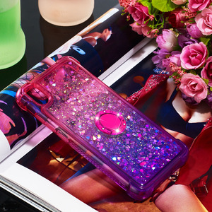Image 3 - Newly Luxury Phone Case For Xiaomi Redmi 7A K20 K20 Pro Bling Heart Dynamic Kickstand Soft Edge TPU Bumper Back Cover Coque Gift