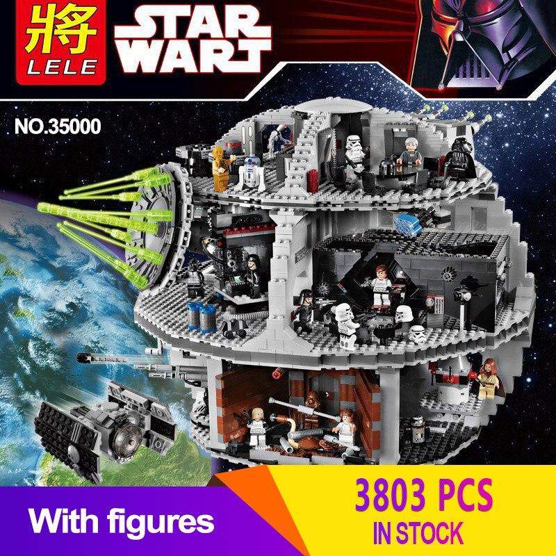 LELE Death Star 35000 3803 pièces bloc de construction Wars TIE Fighter briques Compatible LegoINGlys 10188 jouets éducatifs pour enfants cadeaux