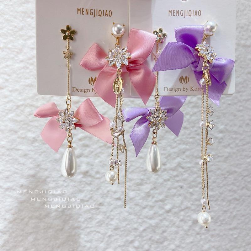 Mengjiqiao корейские милые элегантные пряжи с цветочным принтом