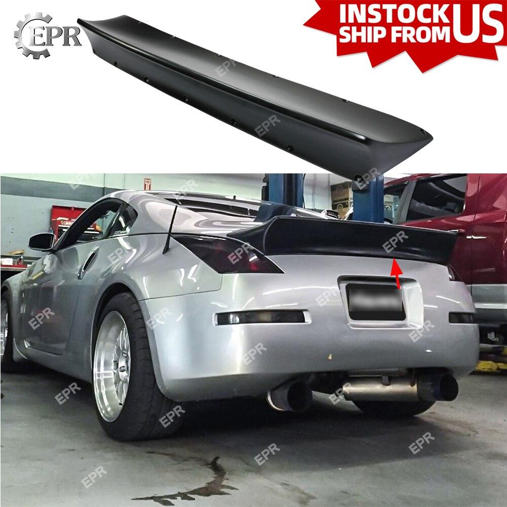 FRP Nismo Wing Lip For Nissan 350Z Version2 Fiber Glass Rear Spoiler Tuning Trim Accessories Fiberglass