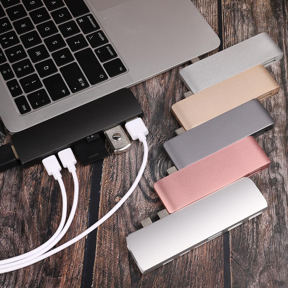 USB C Type C Hub For Macbook Pro Air 12 13 15 16 Inch 2020 2019 USB-C  HDMI Hub Splitter 3.0 Adapter TF/SD/PD Card Reader Type C