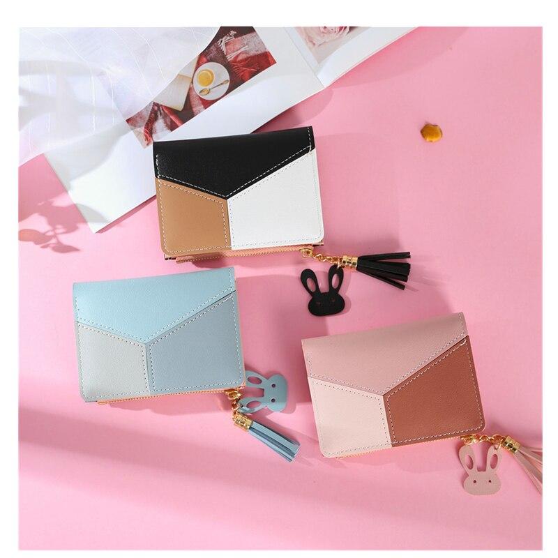 Newest 1Pcs Cute Wallet Women Coin Bag Leather Ladies Simple Bifold Small Handbag Purse Women PU Wallets