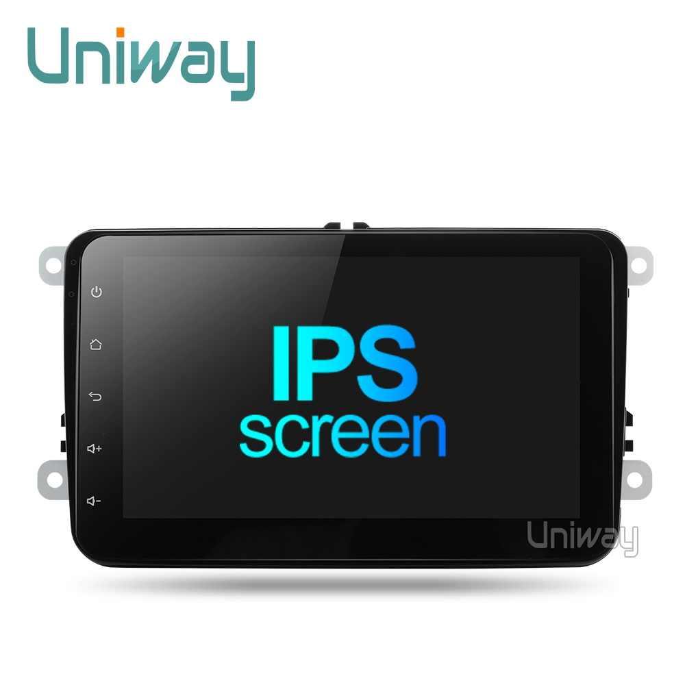 """Uniway 8 """"2 din автомобильный DVD GPS Радио стерео плеер для Volkswagen VW golf 6 passat b6 B7 туристическое Поло Tiguan; skoda octavia автомобильный dvd"""