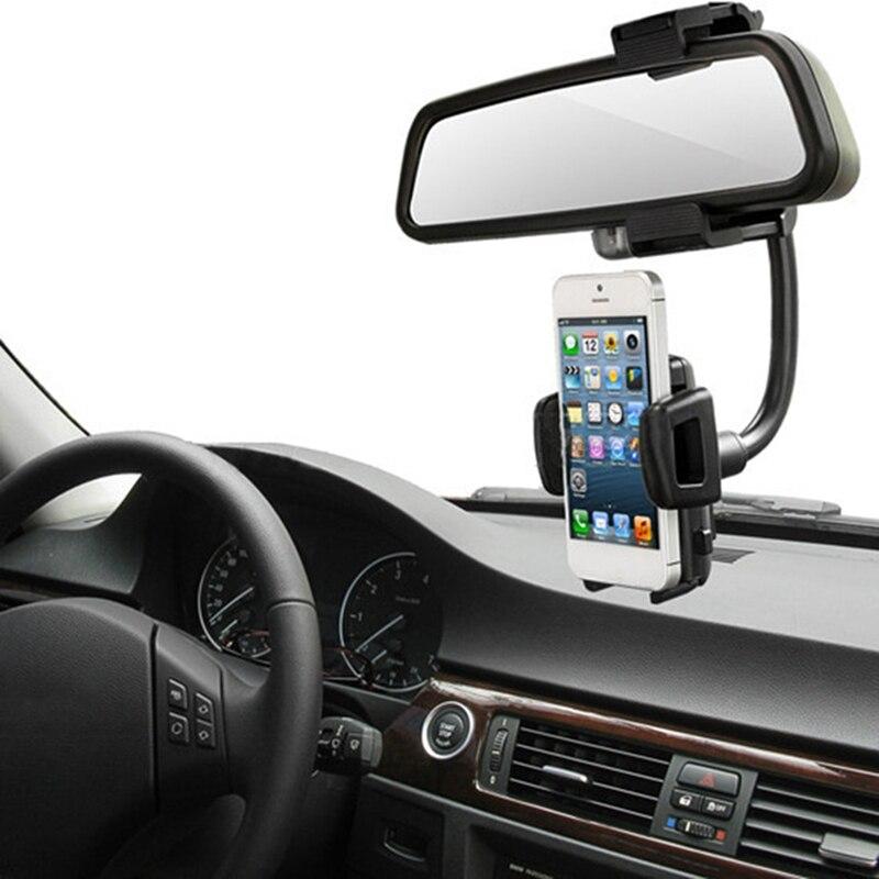 Espelho Retrovisor Do Carro Montar Titular Universal 360 Graus Celular GPS Suporte Phone holder Cradle Suporte