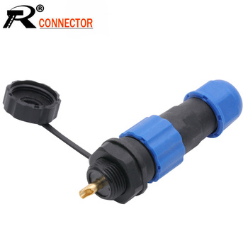SP13 IP68 waterproof connector male plug & female socket 1/2/3/4/5/6/7/9 pin panel Mount wire cable connector aviation plug image