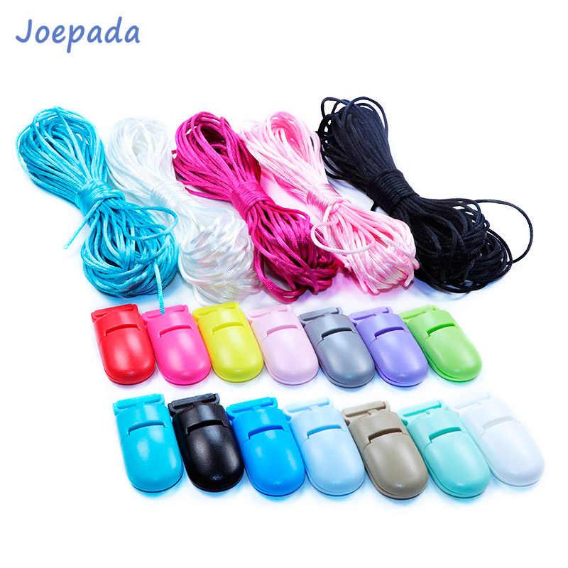 Joepada Manik Silikon Teething Kalung Aksesoris Bayi Teether Sasak 1.5 Mm Polyester Cord Diy untuk Perhiasan Hiasan Liontin