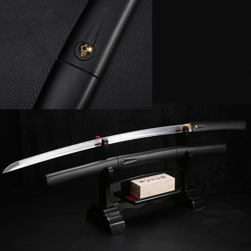 Handmade Swords 1045 Carbon Steel Blade Katana Japanese Sword Sharp Edge Samurai Wooden Scabbard No Guard Cutting 41inch