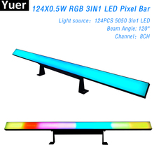 LED Pixel Tube DMX 512 Control 124X0.5W 5050 RGB 3IN1 DJ Stage Led Bar Light For Disco Party Wedding Show Wall Wash Beam