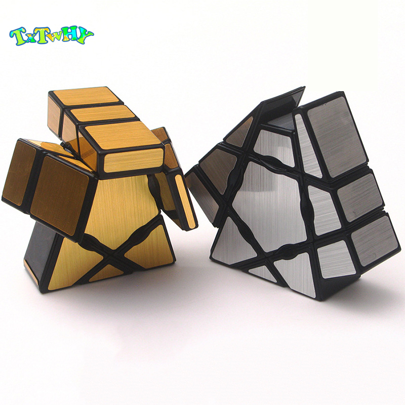 Magic Cube Ghost 1X3X3 Cube Fidgets Mirror Block Anti-Stress Puzzle Gold/Silverneo Cubo Magico Educational Toys Children